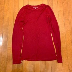Soft red long-sleeved shirt